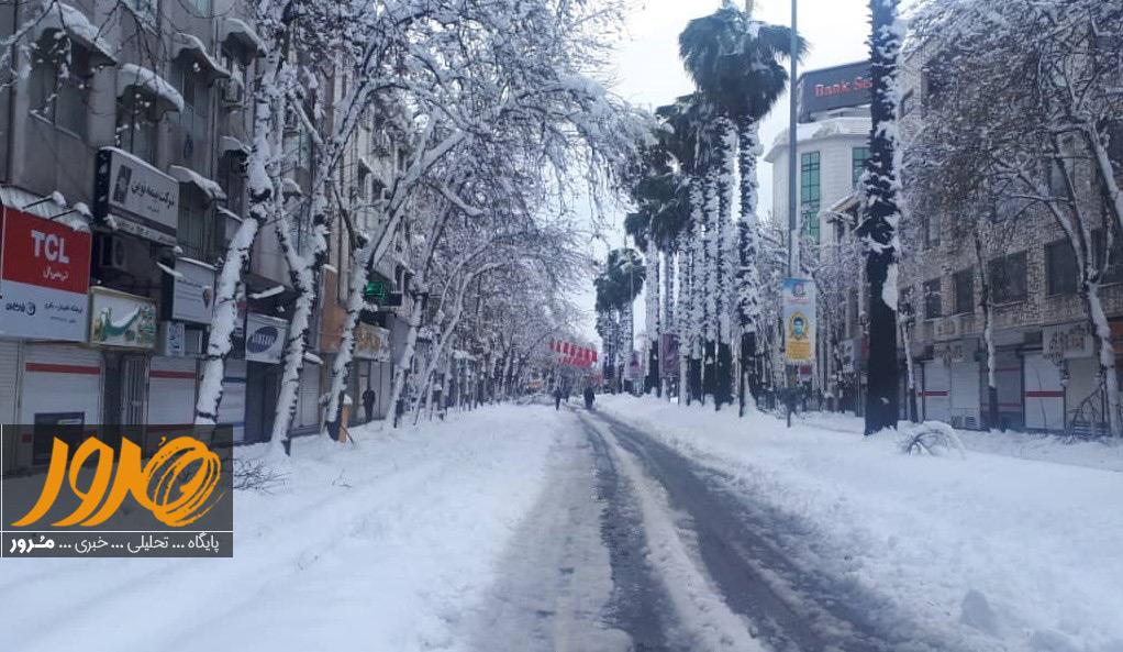 بارش برف در رشت