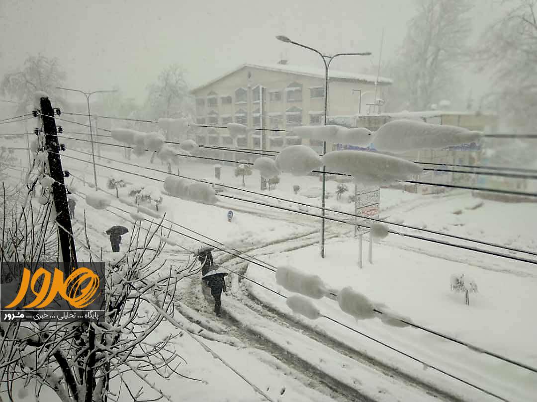 شدت بارش برف در گیلان